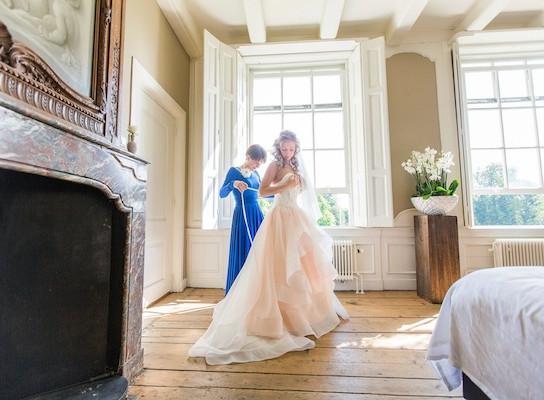 Elena Blush Wedding Dress 2