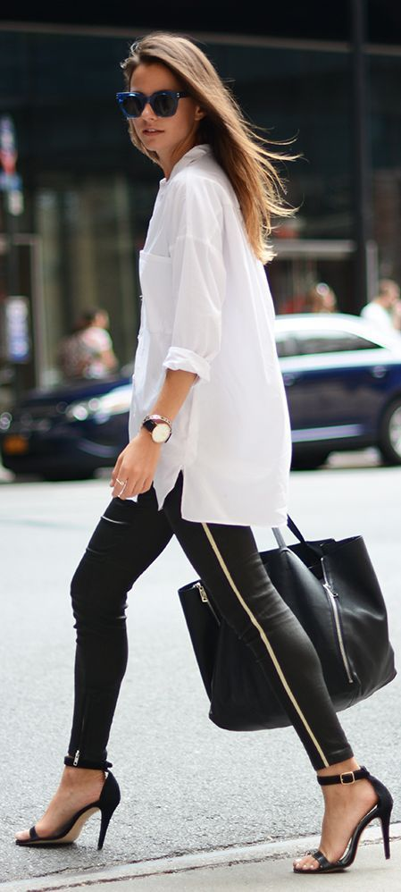 How To Wear Oversized Witte Blouse Shopgids